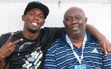 Photo of Usain Bolt & his friend  Glen Mills