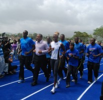 Opening of the Usain Bolt track in Kingston 2010