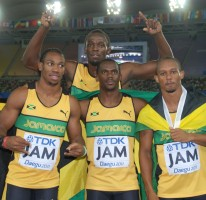 WORLD 4x100m RECORD: 37.04
