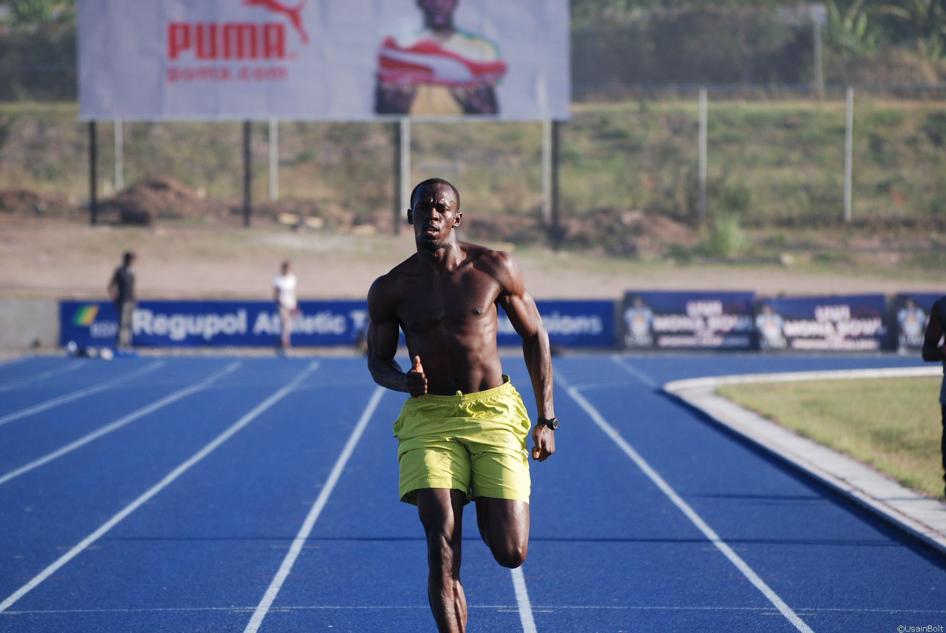 Usain Bolt   Training in Kingston, March 2011