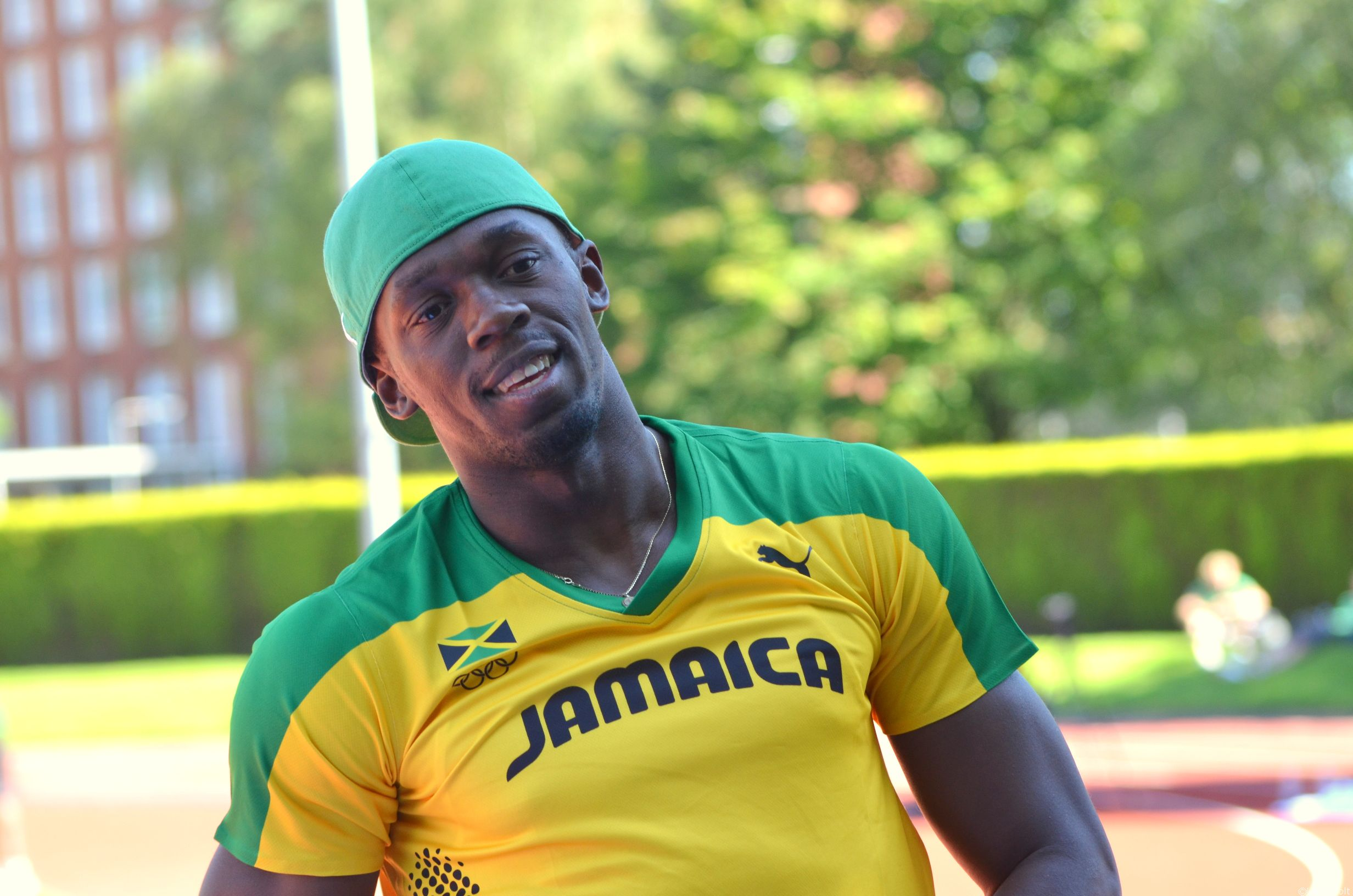 Usain in Birmingham Training Camp