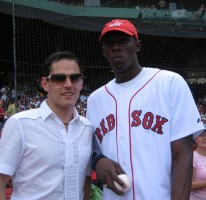 Ready to throw out the first pitch at Fenway Park