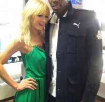 Me and Paris backstage at Letterman