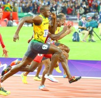 BOLT blazes to 9.63 seconds in Olympic 100m Final