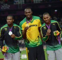 Bolt leads Jamaicas sweep of the Olympic Games 200 metres