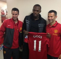 Usain at Manchester United 2012