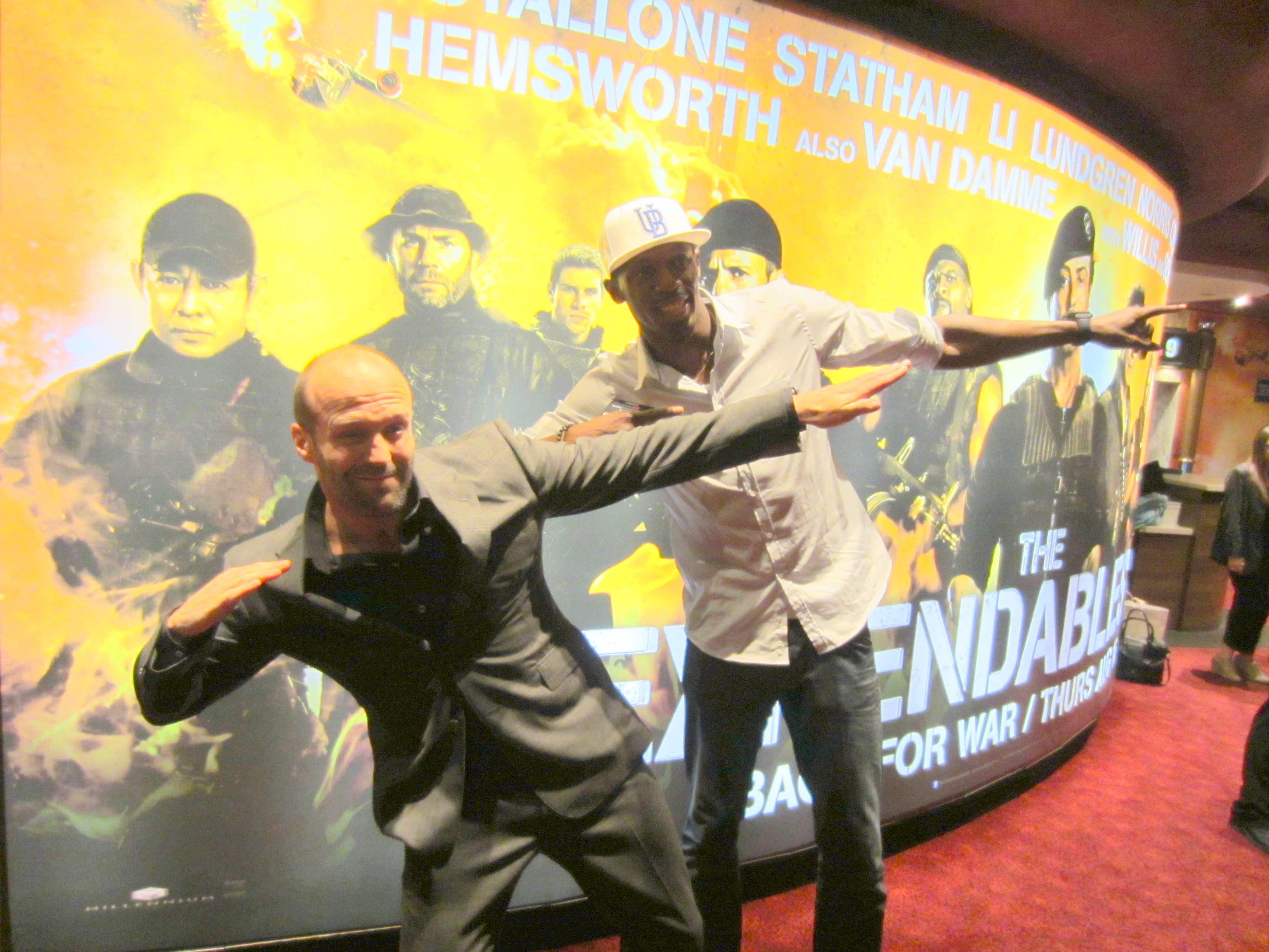 With Jason Statham at the Premier of The Expendables 2