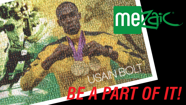 Official Usain Bolt Celebration Mosaic