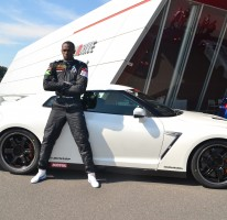 Usain at the Nissan GTR headquarters in Yokohama