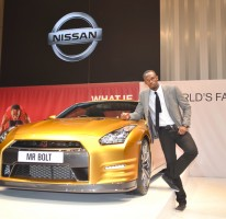 Video of Usain talking about the gold Nissan GTR auction