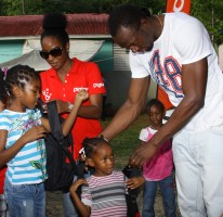 BOLT HOSTS TREAT IN HIS HOMETOWN ON BOXING DAY