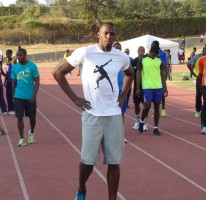 Usain runs 46.71 secs for the 400m in the Camperdown Classic