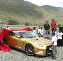 Usain gets his gold GTR, May 2013