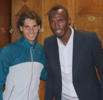 Usain at the French Open Tennis Final