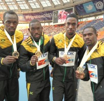 4x100m gold makes it 8 at World Champs