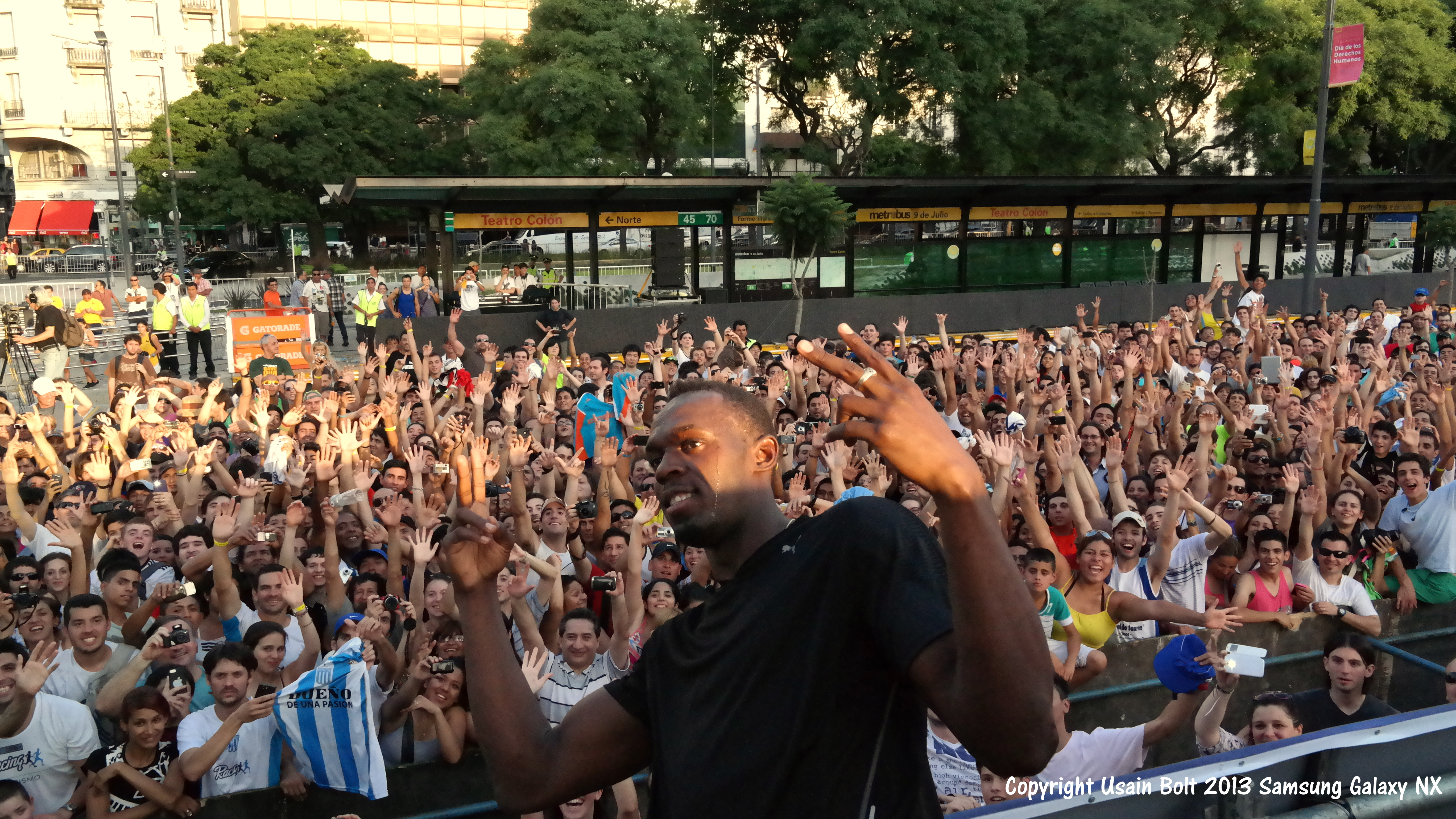 Usain in Argentina
