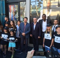 Usain opens the Hublot boutique in Miami