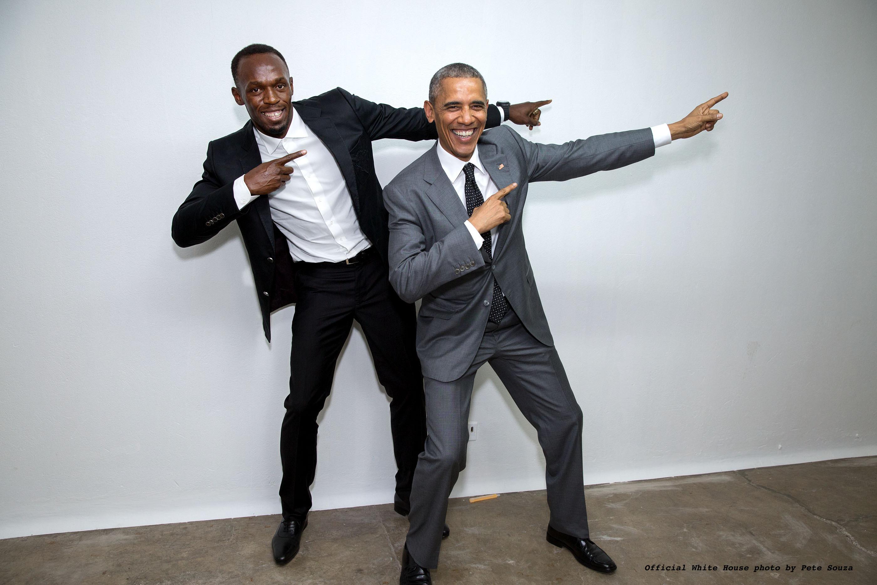 Usain meets President Obama