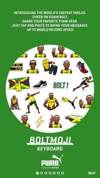Get the Usain Bolt emojis