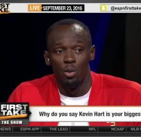 Usain on ESPN's First Take