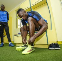 Usain trains with Mamelodi Sundowns FC
