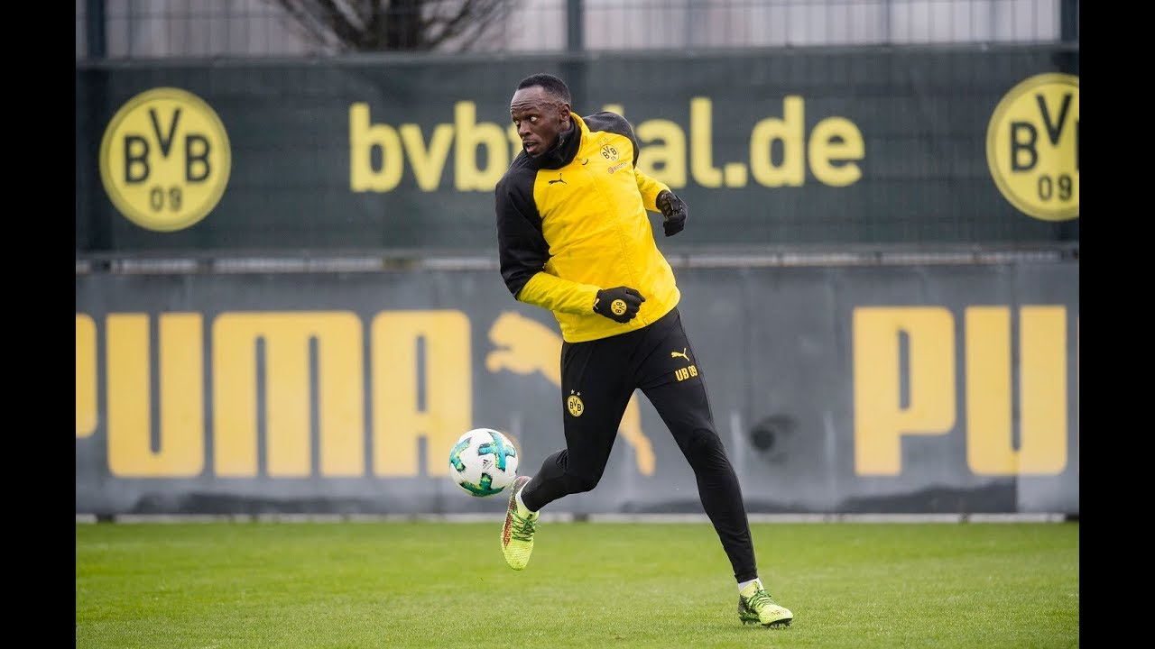 Usain trains with BVB Dortmund
