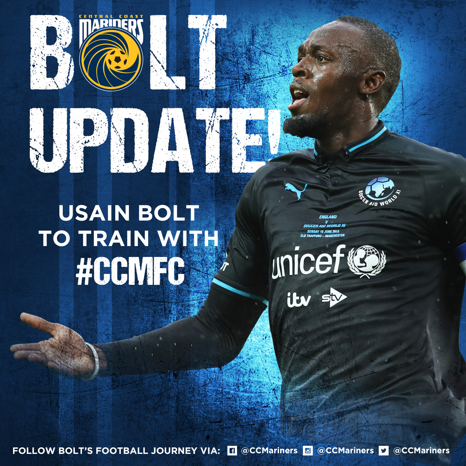 Usain joins the Central Coast Mariners