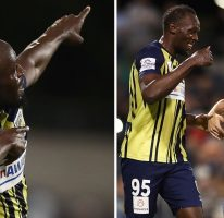Usain scores 2 goals in first start for the Central Coast Mariners