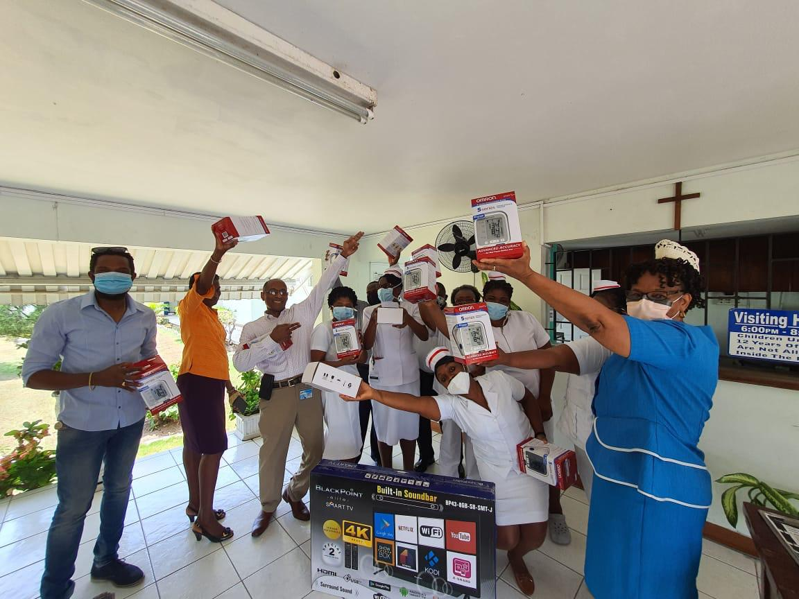 Usain Bolt donates equipment to Nuttall Memorial Hospital Maternity Ward