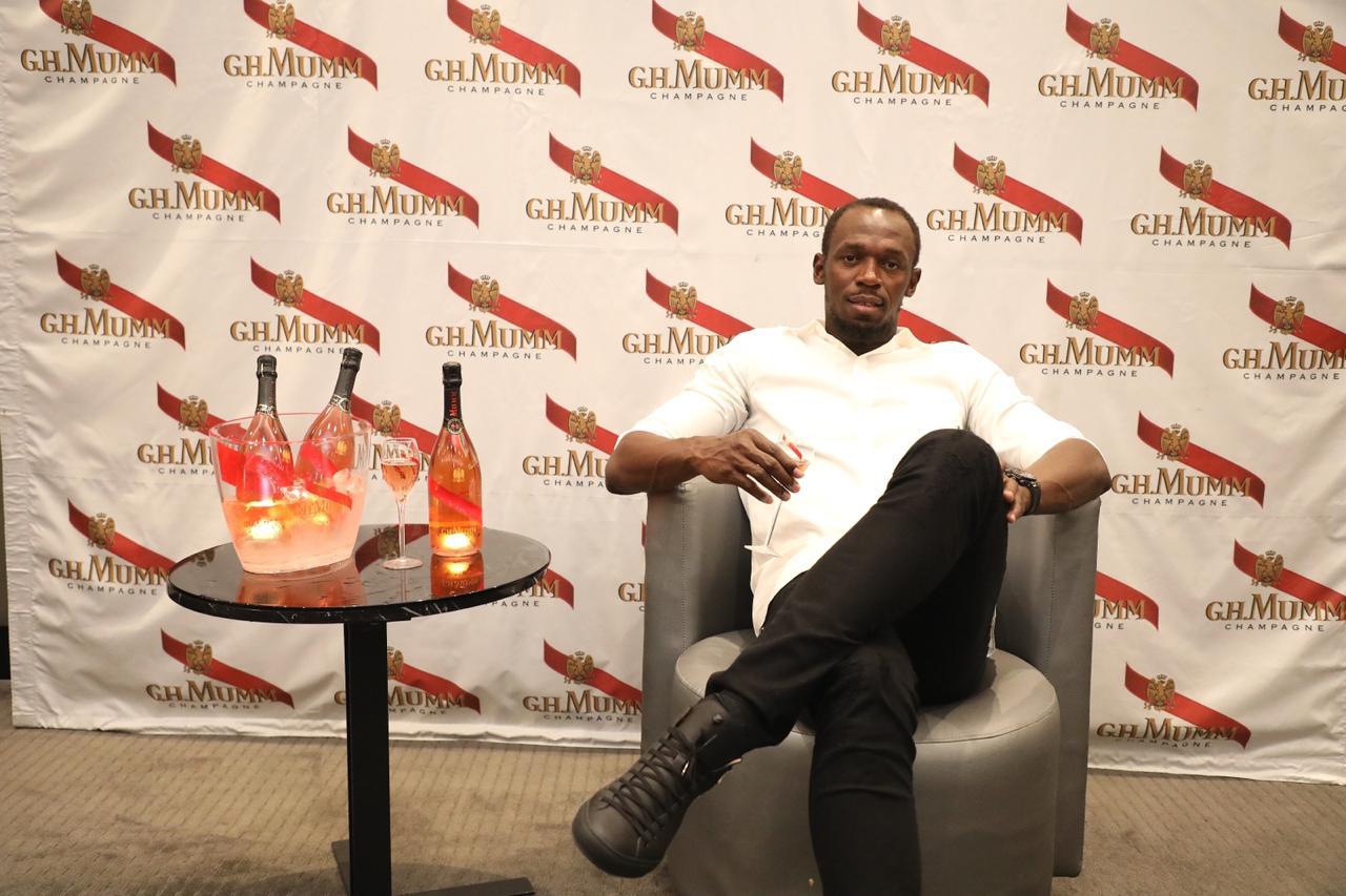 Usain launches signature champagne – Mumm Olympe Rosé